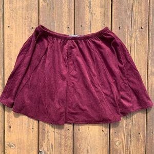 Brandy Melville burgundy skirt ❤️